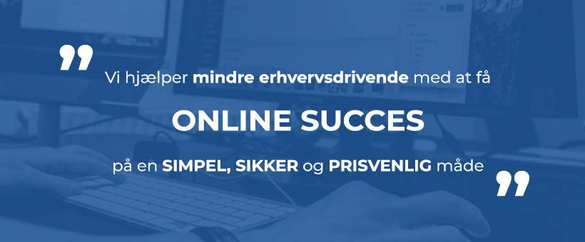 Coverbillede af erhvervshjemmesiders slogan